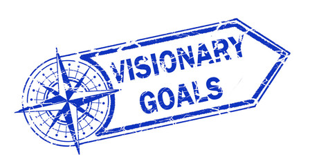 visionary goals stamp on white background