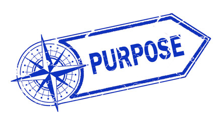 purpose  stamp on white background