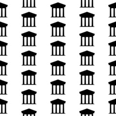 Bank symbol seamless pattern