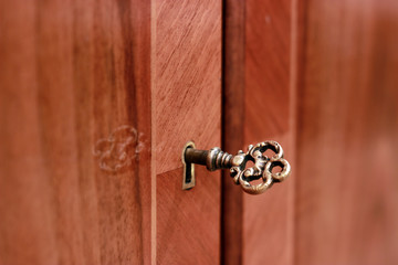 Golden key to antique furniture