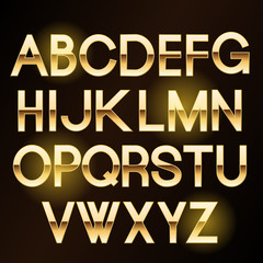 Vector shiny gold letters