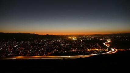 Southern California Suburban Dusk to Night Time Lapse
