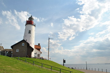 Lighthouse on former island Urk, The Netherlands