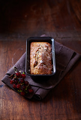 Simple cake with dried fruits for Christmas