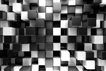 Fototapeta 3D srebrne bloki