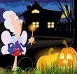 Fairy godmother near the house