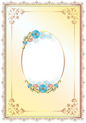 floral frame and border one