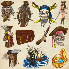 Pirates - colored full sized hand drawn illustrations no.1