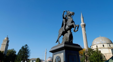 BITOLA, MACEDONIA, The monument of King Filip II in Bitola