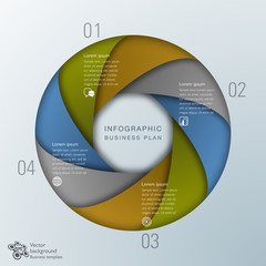 Infographic Vector Background #Business Plan, Focus
