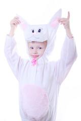 Fancy Rabbit Costumed Girl