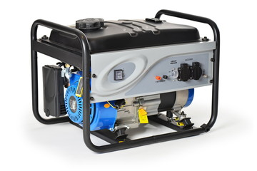 Gasoline powered,  emergency electric generator isolated