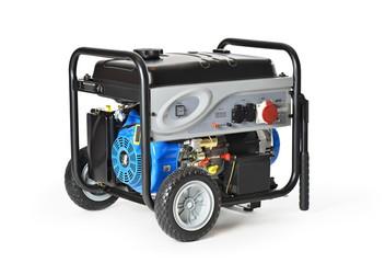 Gasoline powered, ten horsepower, emergency electric generator