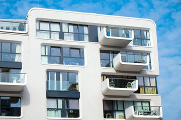 White modern building facade