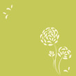 canvas print picture - Flower background