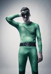 Naive funny superhero