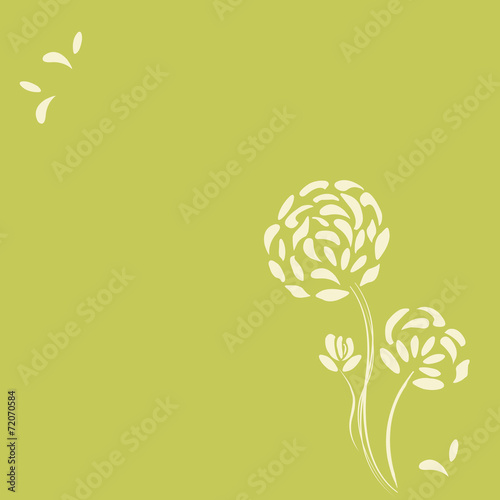 canvas print picture Flower background