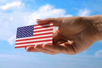 small flag of USA