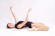 Постер, плакат: Гимнастка балерина на белом фоне