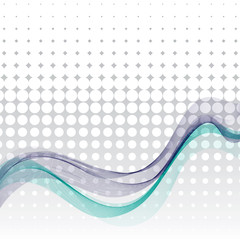 abstract wavy background - vector illustration