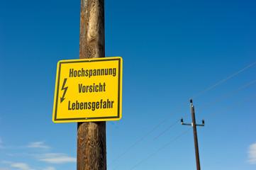 Vorsicht Strom Gefahr