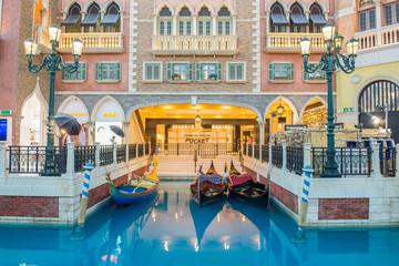 MACAU, CHINA - MAY 22th 2014 : The Venetian Hotel, Macao - The f