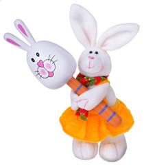 White rabbit with maracas