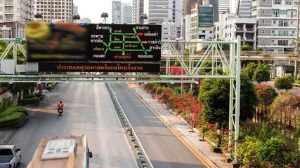Time lapse shot of intelligent traffics system (ITS), thailand