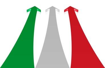Mut, Kraft - Pfeile in den Farben der italienischen Flagge