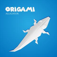 origami paper alligator