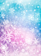 Colorful Snow Background