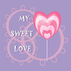 sweet candy heart text