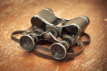 Old military binoculars, vintage style