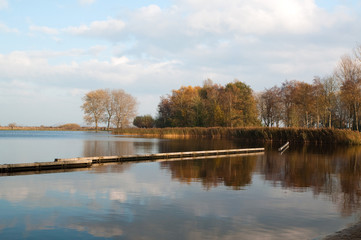 Lake in the North of the Netherlands