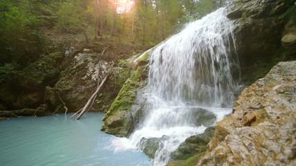 Waterfall Rufabgo in North Caucasus Russia