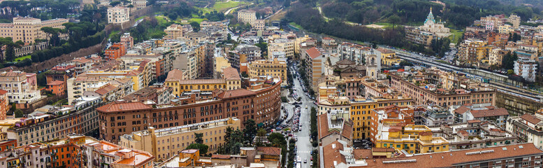 Rome, Italy. A view of the city from above