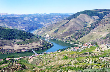 View from the Douro valley, from Casal de Loivos