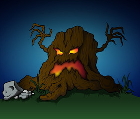Spooky Halloween Stump
