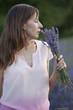 woman with bouquet lavender