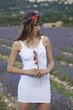woman posing in a lavender field