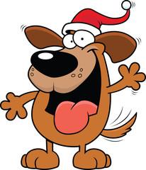 Cartoon Christmas Dog
