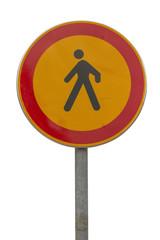 no pedestrian traffic sign 2