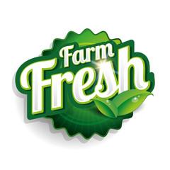 Farm fresh label