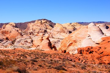 Beautiful red desert, Valley of Fire State Park, Nevada