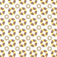 Turkey feather flower pattern