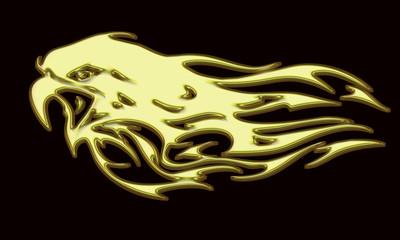 Tête d'aigle en or