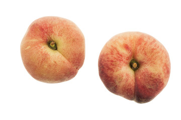 Flat Peaches Isolated