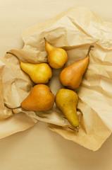 Multiple ripe pears