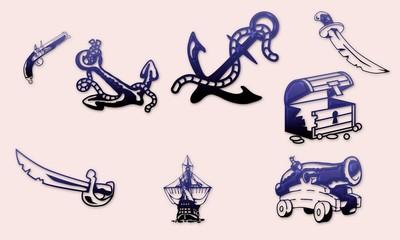 Planche dessins pirates et corsaires