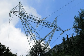 a high-voltage pylons for electricitys